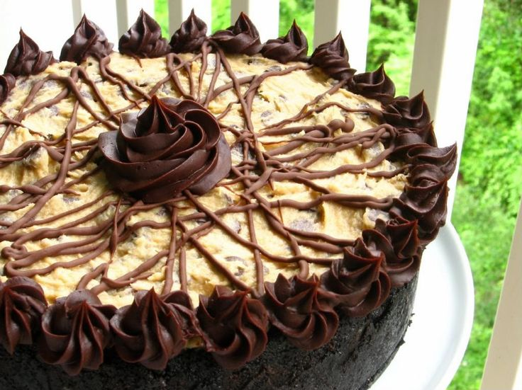 One day I'll attempt this - Coffee Cookie Dough Fudge Cheesecake