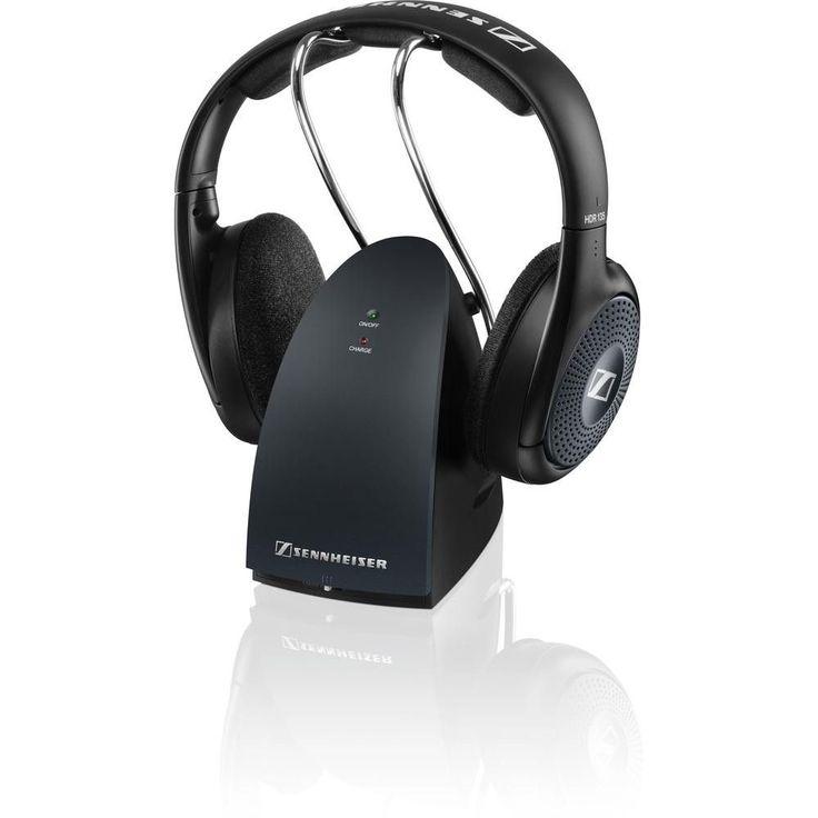 Sennheiser RS 135 Headphone - Stereo - Black - Mini-phone - Wired-Wireless - RF - 330 ft - 24 Ohm - 22 Hz 19.50 kHz - 65 dB(A) SNR - Over-the-head - Binaural - Supra-aural