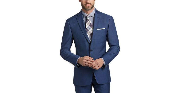 Check this out! Calvin Klein Blue Postman Extreme Slim Fit Suit - Men's Slim Fit from MensWearhouse. #MensWearhouse