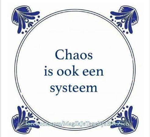 Chaos is ook een systeem
