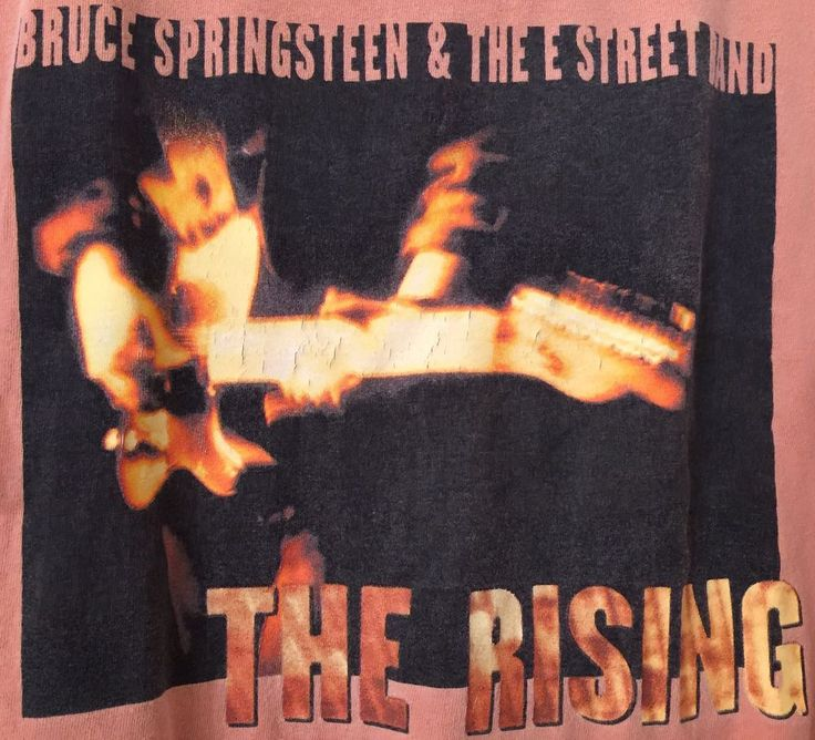 Bruce Springsteen And The E Street Band The Rising World Tour 2002 Sz L T-shirt  #MyDyer #GraphicTee