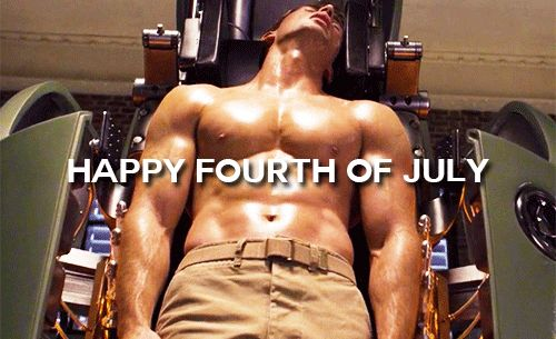 Chris Evans, Steve Rogers, Captain America, The first Avenger, gif, hot body, fourth of july, 4th of july,