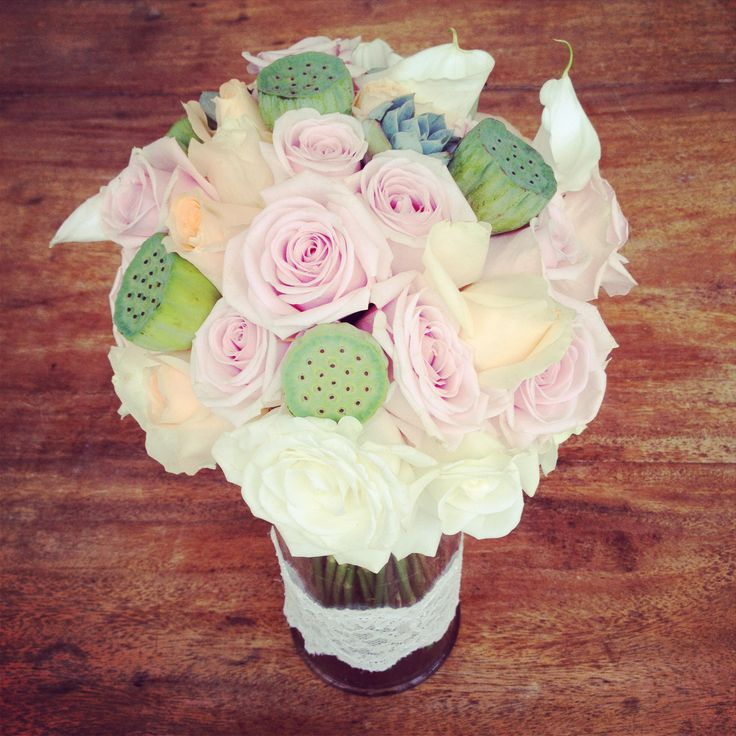 Hand bouquet in blush