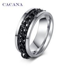 CACANA acier inoxydable anneaux pour les femmes classique rotation chaîne de…
