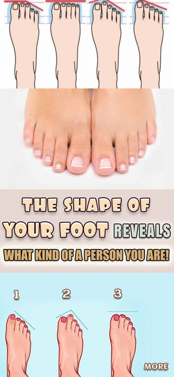 THE SHAPE OF YOUR FOOT REVEALS WHAT KIND OF A PERSON YOU ARE!