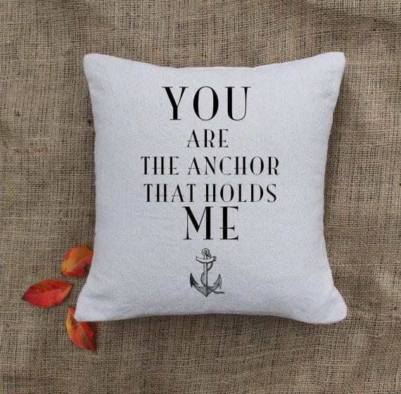 Anchor Pillow  Custom Pillows  Nautical by VintageAffairStudio, $24.00