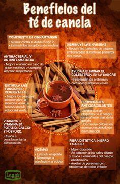 La canela no es sólo un delicioso ingrediente para dar sabor al té y los alimentos, puesto que también cuenta con una amplia historia en su uso como un medicamento. Así pues, sus propiedades beneficiosas van desde sus efectos anti-oxidantes, y anti-inflamatorios, hasta su poder estimulante para el sistema inmunológico, pasando por sus propiedades anti-microbianas. Por tanto, como se puede ver en esta infografía,el consumo …