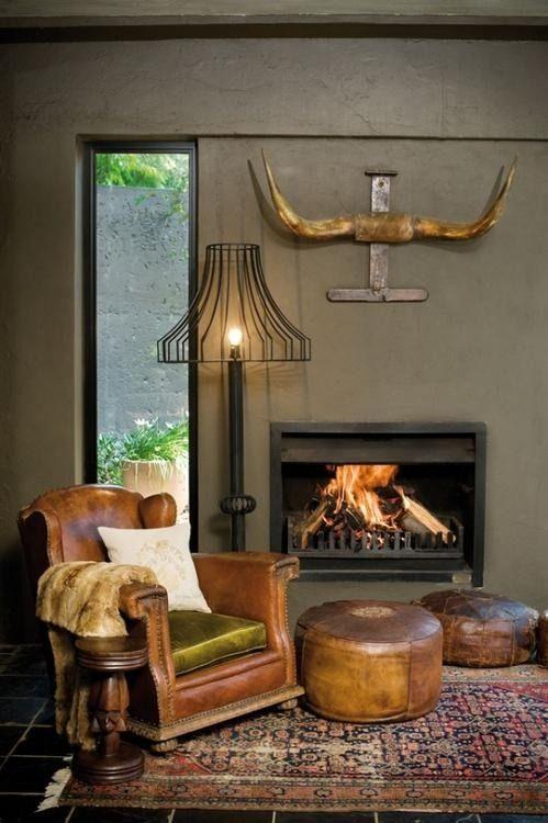 Gray Chair And Ottoman