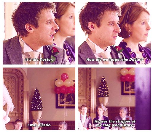 This is what Rory is saying while Amy's running up to the TARDIS. Though that last line was a little awkward!