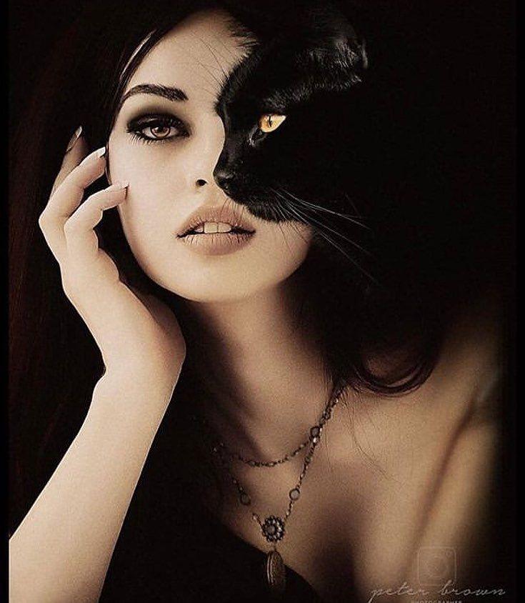 ведьма с кошкой фото районе объявили режим