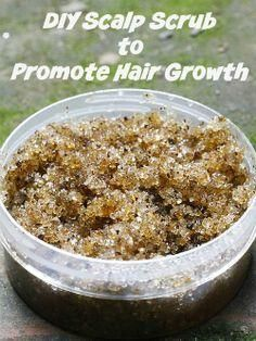 "A DIY scalp scrub: ""3 tbsp brown sugar  2 tbsp coconut/olive oil  Mix well, apply to scalp and massage gently. Rinse thoroughly to remove all residue."""