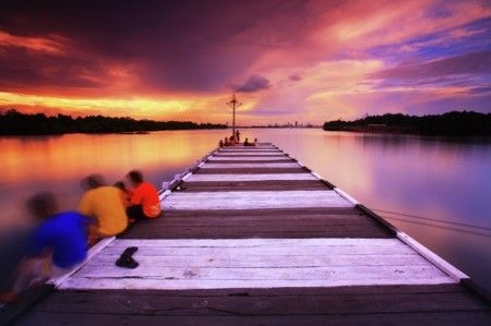 By Willy Khosuma: Pier Sunset at Limau Cape, Bontang, East Borneo - Indonesia