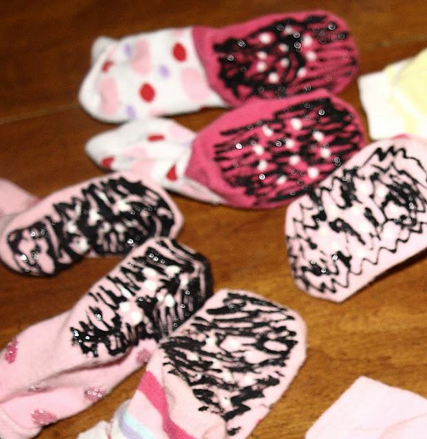 diy non skid socks for baby