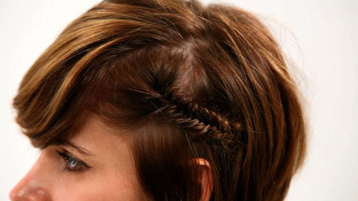 Learn how to fishtail braid short hair from professional stylist Joy La Rosa in this Howcast short hair tutorial, part one of a two-part series.