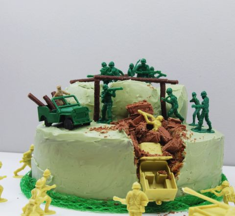 army birthday cake kit | The Jelly Rabbit