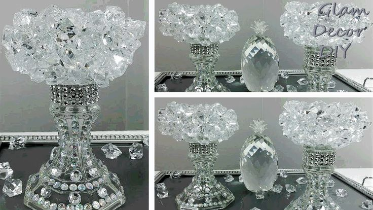 Dollar Tree DIY Glam Bling Crystal Candle Holders …