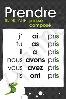 25+ best ideas about Prendre passe compose on Pinterest | Passé ...