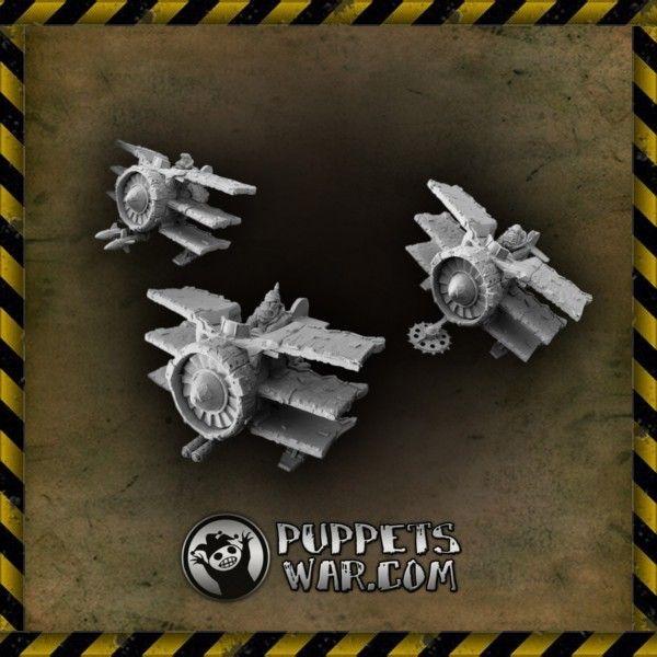 Green Baron Squadron   #orc #miniatures #aircraft #puppetswar #wargame #fun #hobby #model #squadron