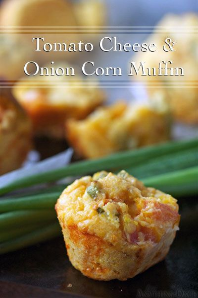 Tomato Cheese and Onion Corn Muffin RecipeMuffin Recipes, Perfect Corn, Food, Corn Muffins Recipe, Tomatoes Cheese, Breads, Onions Corn, Savory Cheese, Cheese Onions