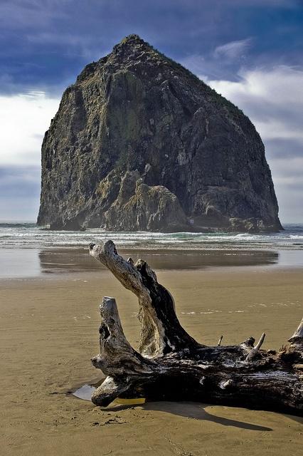 Haystack Rock, Oregon coast -- DSC2908    The landmark rock that has help put Cannon Beach on Oregon's northern  coast on the map.   It is in Oregon's northern most coastal county  along coast route U.S. Highway 101.
