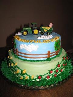 John Deere Baby Shower Cake