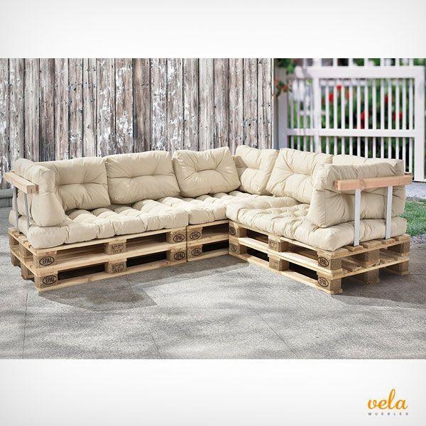 Sofa Palets Exterior Terraza Y Jardin Con Imagenes Sofas Con
