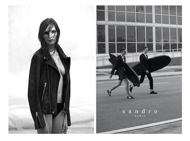 Kelsey Van Mook for Sandro Spring/Summer 2013 Campaign