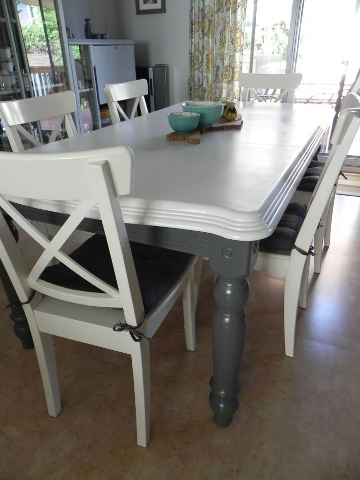 Strange Renewing A Second Hand Kitchen Table With Paint Home Download Free Architecture Designs Embacsunscenecom