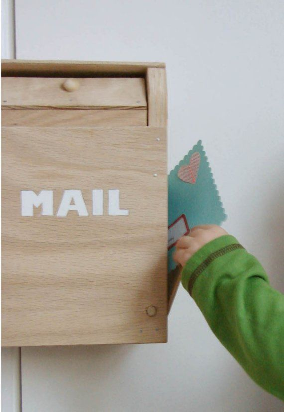 vintageinspired wooden toy mailbox perfect for by hownowdesign