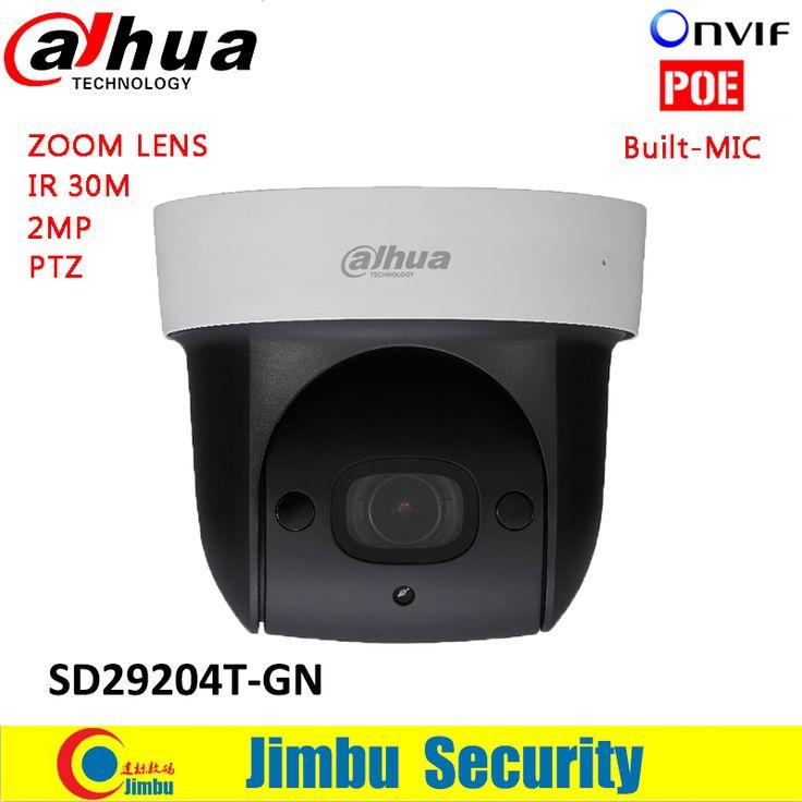 Dahua SD29204T-GN Mini PTZ camera 2MP 1080P IP camera IR 30m Network Speed Dome 4x optical zoom English Firmware