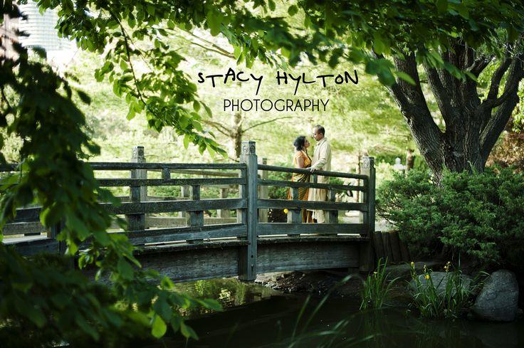 Japanese Garden - Kariya Park wedding photos.