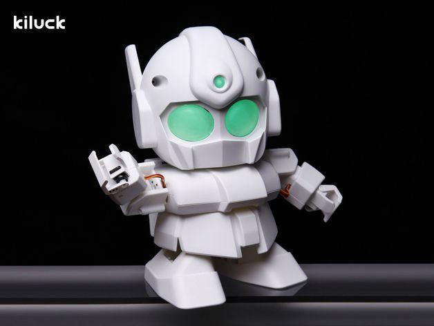 RAPIRO - The Humanoid Robot for your Raspberry Pi by ShotaIshiwatari  http://thingiverse.com/thing:309466