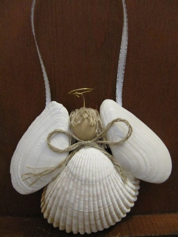 I could do that! (maybe sea-glass for the wings?) angel ornament - Picmia
