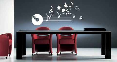 This musical cling will give a new look to your house.  Visit this link for more designs: https://limelight-vinyl.myshopify.com/