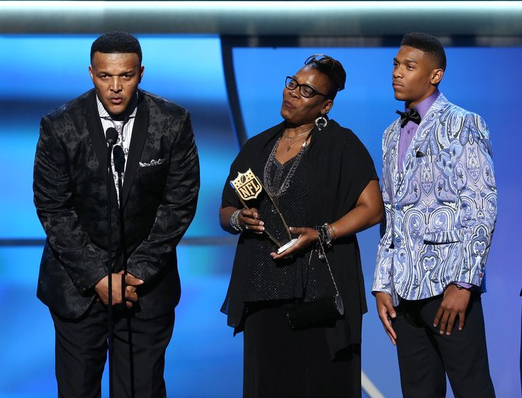 Cam Newton's family accepting his MVP award at the NFL Honors