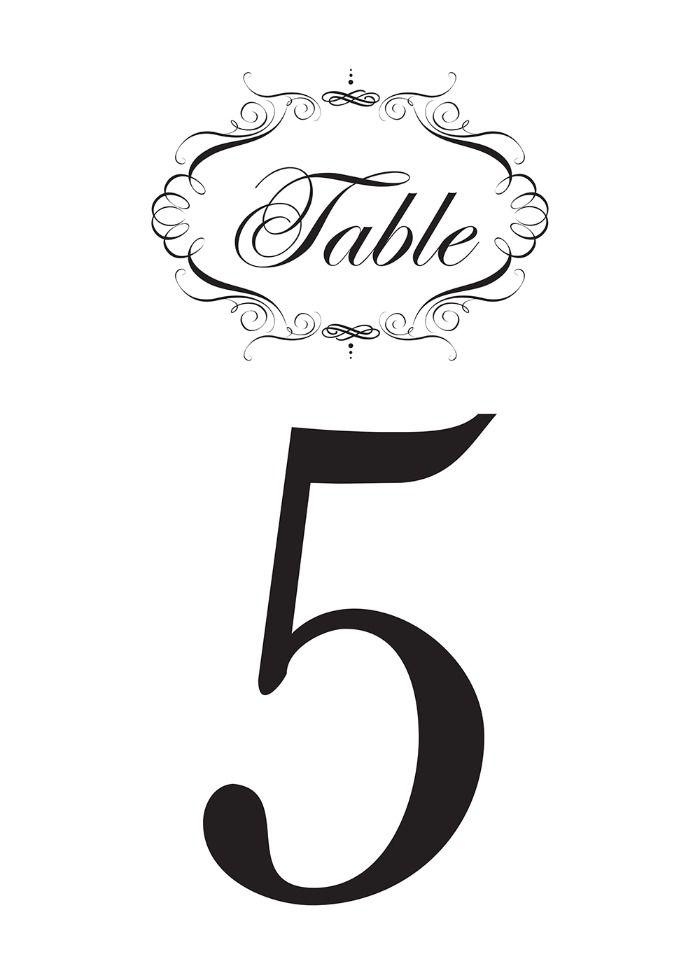 picture about Diy Printable Table Numbers called No cost Extravagant Printable Desk Figures La Traviata Celebration inside of