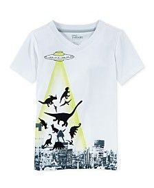Epic Threads Little Boys' UFO Dino T-Shirt, Only at Macy's
