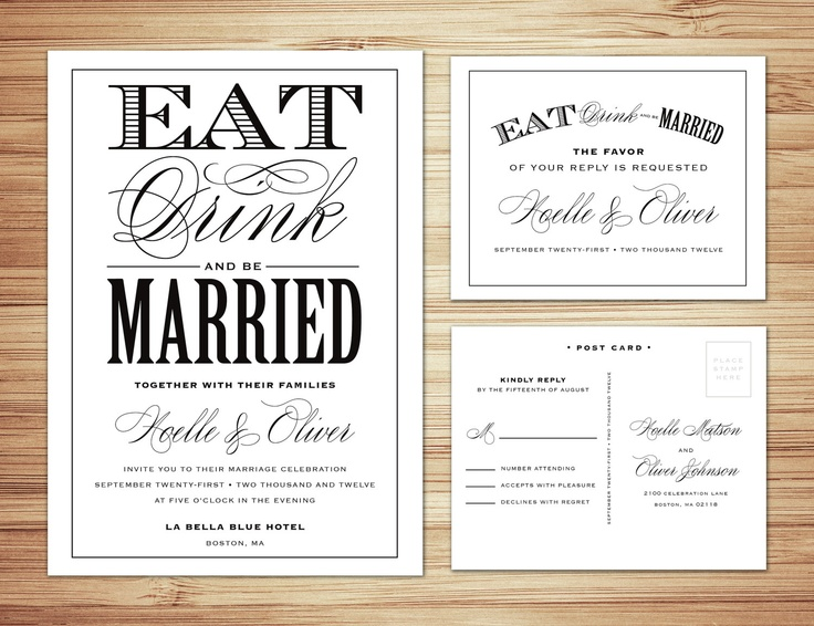 120 best invitation ideas images on pinterest invitations wedding be married wedding invitation rsvp love this post card like rsvp with stopboris Gallery