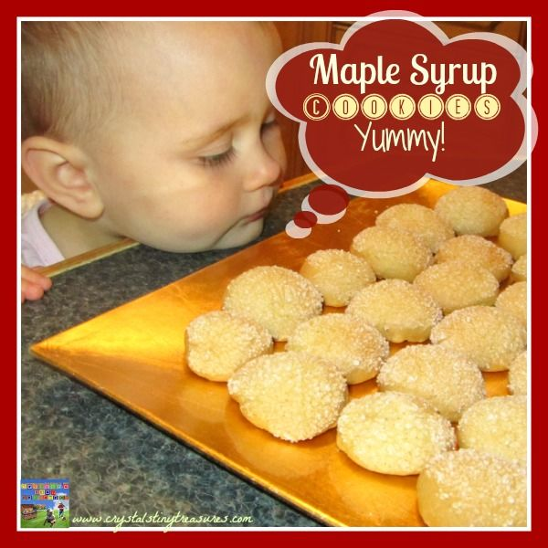 Maple syrup cookies - those would make cool Canada Day treats. Recipe by Crystal's Tiny Treasures - She says they're not overly sweet, so I think I'll give them a try.