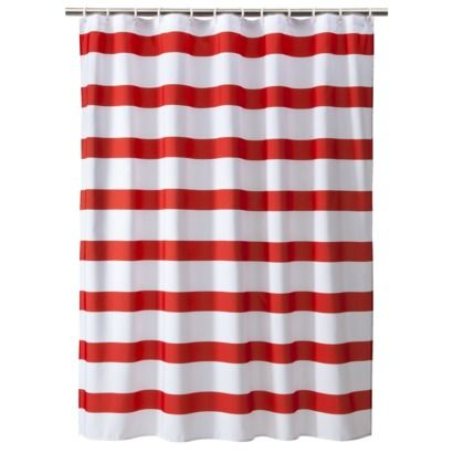 Room Essentials® Shower Curtain Rugby Stripe.Opens in a new window