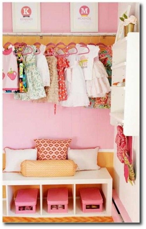 Kids Closet Designs In Bold Pink