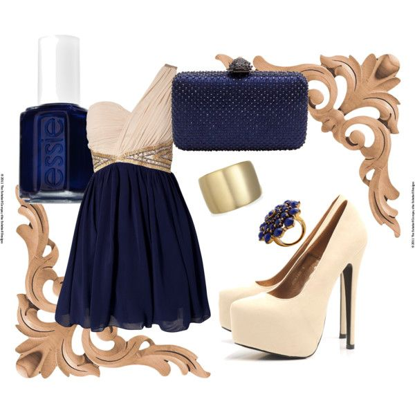 tan & navy, created by alisluder...Love the color and hue variation christina!