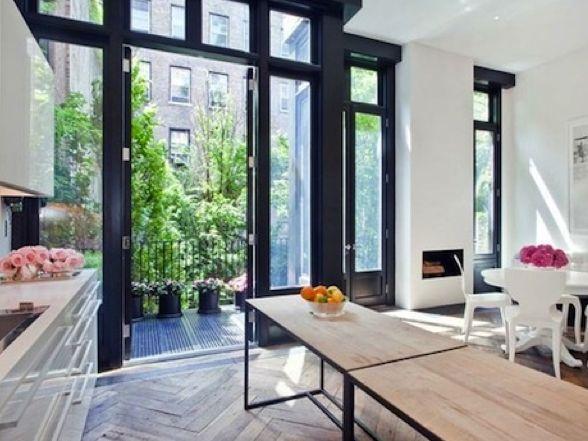 Open space, kitchen, balcony
