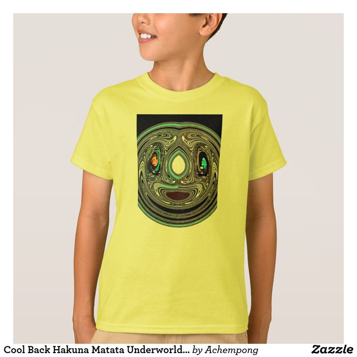 Cool Back Hakuna Matata Underworld Unique T-shirt #Cool Vintage Tee Shirts facial mask traditional #African #Aztec inspiring graphic image. Tee