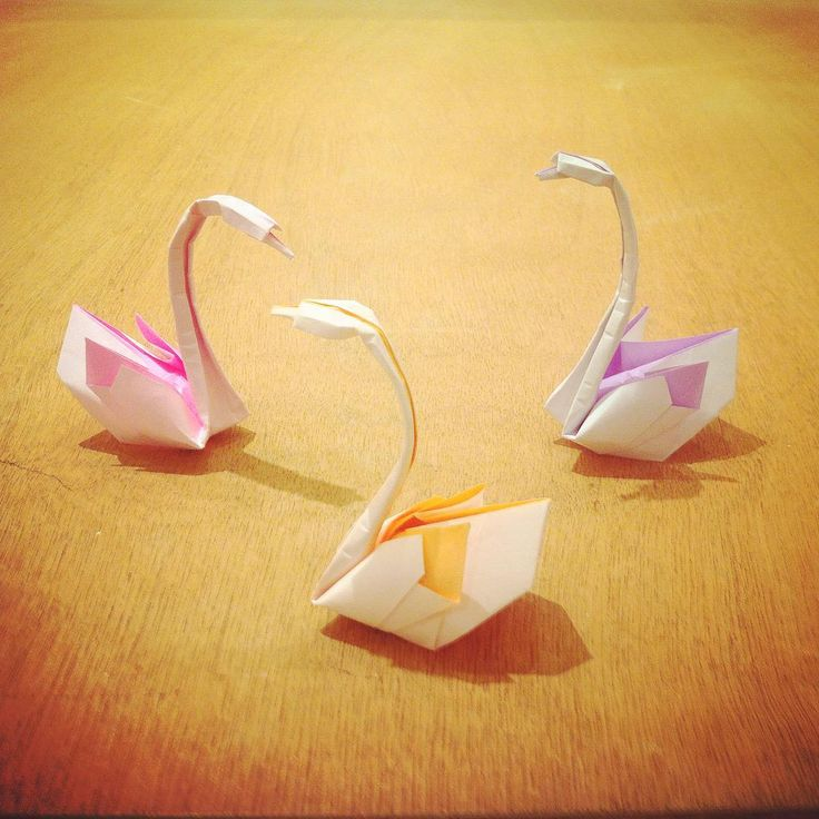 The three Graces #origami #swan #paper #animals