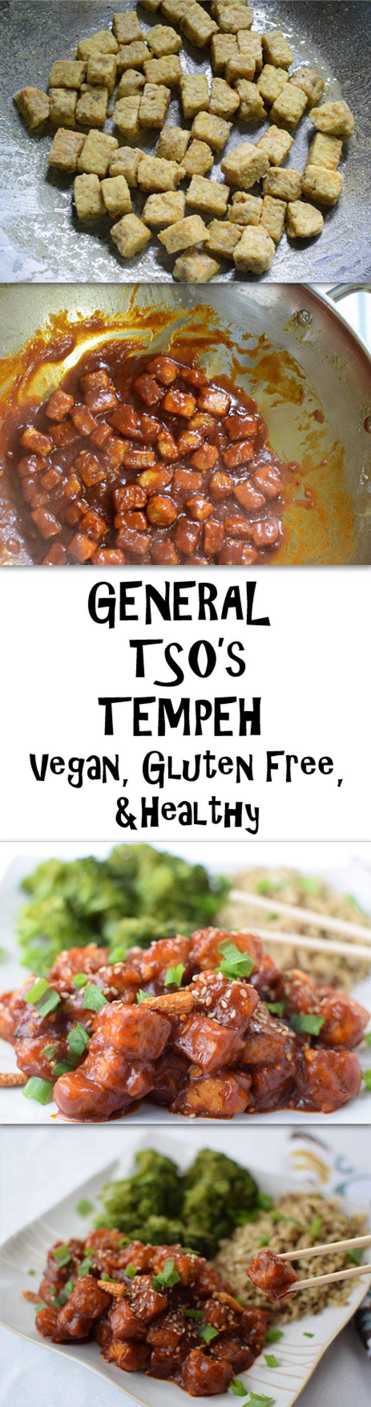 General Tso's Tempeh - A vegan amd healthy version of a classic dish  (Add peapods, baby corn, baby bok choy, and some other vegies for more filling, healthy twist on a favorite (jt note))