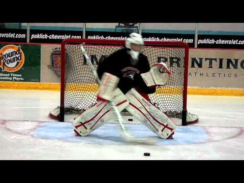 In this drill, the goaltender will be working on tracking the puck and stick control. Since the shooters will be shooting pucks one after the other, goalies must track the puck, re-set and track again very quickly. It also teaches stick recovery and to lead with the stick even on the high glove saves. Enjoy!  Goalrobber Drill of the Week #21 (Stick and Glove Saves)
