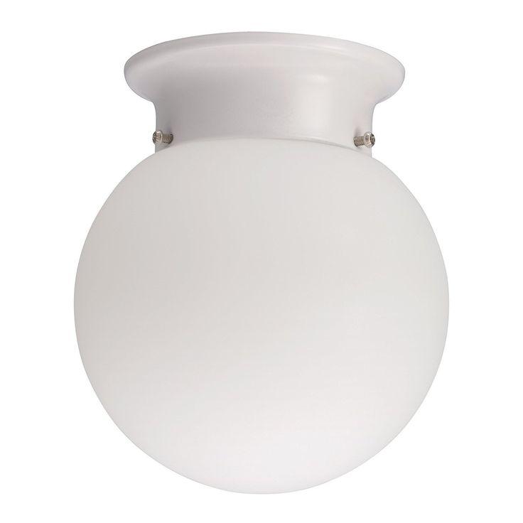 Lithonia Lighting 11981 WH M4 13 Watt Globe Flush Mount