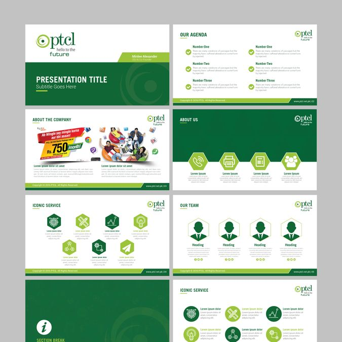 Create a captivating Powerpoint template for PTCL by mhaseeb