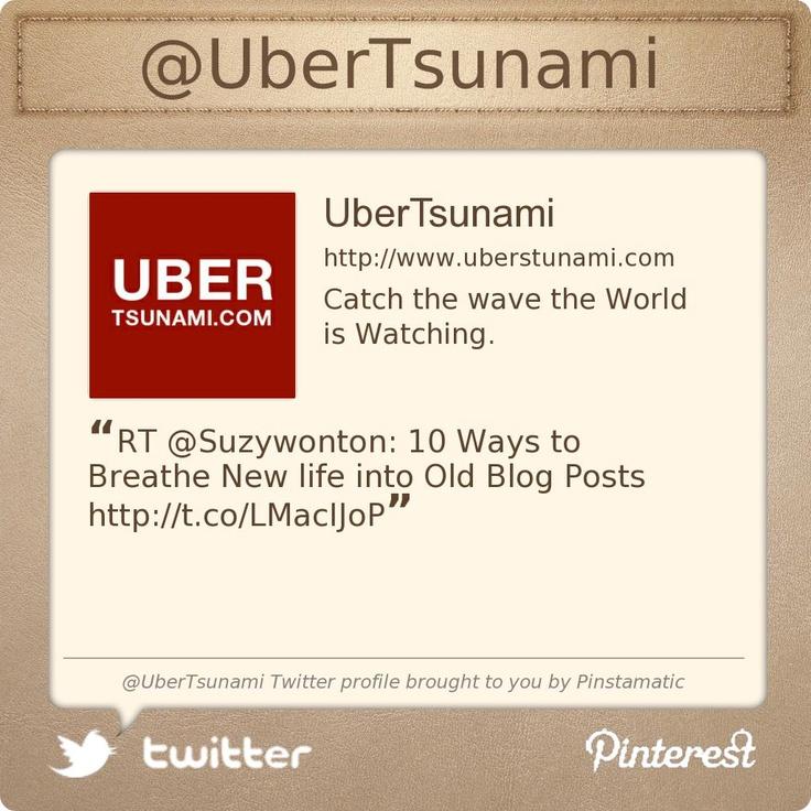 @UberTsunami's Twitter profile Social Media for the performing arts